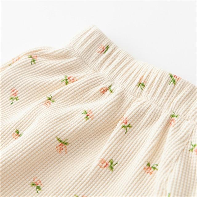 PUWD Y2K Sweet Girls Floral Soft Cotton Shorts 2021 Summer Fashion Ladies High Waist Flower Bottoms Casual Women Chic Shorts 3