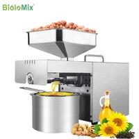 Biolomix nova máquina da imprensa de óleo de aço inoxidável comercial casa extrator óleo expeller presser 110v ou 220v disponível