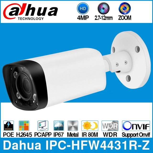 Dahua IPC HFW4431R Z 4MP POE kamera IP 80m MAX IR noc 2.7 ~ 12mm obiektyw VF zmotoryzowany Zoom automatyczne ustawianie ostrości kula bezpieczeństwa kamera telewizji przemysłowej