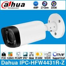 داهوا IPC HFW4431R Z 4MP POE IP كاميرا 80 متر ماكس IR ليلة 2.7 ~ 12 مللي متر عدسة VF بمحركات التكبير السيارات التركيز رصاصة الأمن كاميرا تلفزيونات الدوائر المغلقة
