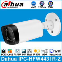 大華IPC HFW4431R Z 4MP poe ipカメラ80メートル最大赤外線ナイト2.7〜12ミリメートルvfレンズ電動ズーム、オートフォーカス弾丸セキュリティcctvカメラ
