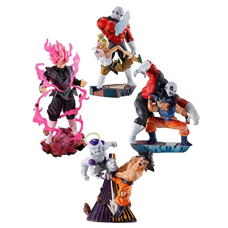 Original Megahouse Dragon Ball Super Log Box Goku Jiren Rose Black Goku Freeza Action Figure Figurals Model Dolls Brinquedos