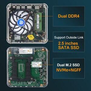 Image 5 - XCY Mini Komputer stancjonarny Intel Core i7 9850H i9 9880H procesor DDR4 RAM Win 10 Linux Gaming 4K UHD HTPC DP Minipc pulpit Komputer