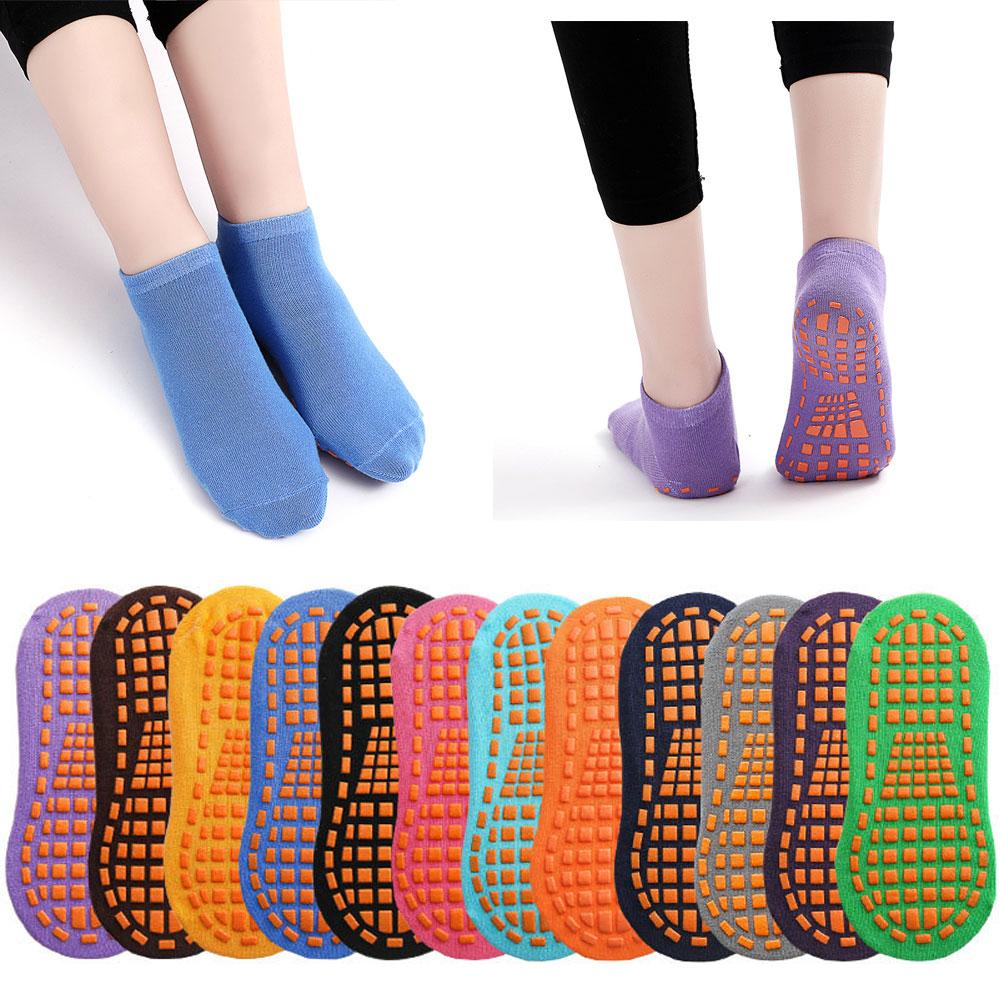 Носки с батутом для взрослых и детей, домашние спортивные хлопковые нескользящие дышащие, для пола, для йоги, массажа ног, 5 пар в упаковке
