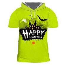 Ifpd eu size 3d horror hooded t shirt halloween printed tshirt
