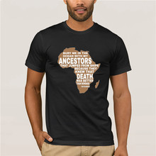 Camiseta con mapa de África Vintage de calidad de marca de 2019, camiseta para hombre, Pantera Negra, en el océano enterrame, camisa para hombre rey Wakanda