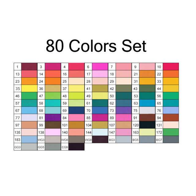 80 all colors set