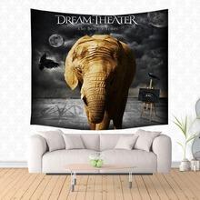 Dream Theater dekoracyjne gobeliny wiszące gobeliny narzuta obrus kurtyna rzut koc narzuta tanie tanio 100 poliester MEDITERRANEAN Scenic Tkane Rectangle Drukowane