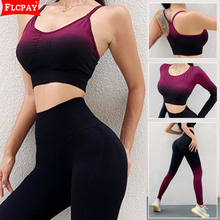 Sportswear Tracksuits-Outfits Women Yoga Tops-Sets Jogging-Suits New Sweatpants Contrast