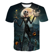 T-Shirt Horror Movies Christmas-Jack 3d-Printed Nightmare Halloween Before