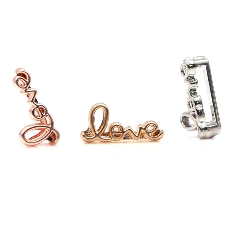 2 шт серебро розовое золото ракета Медведь Сердце Бусины Шарм Подходит 10 мм Нержавеющая сталь сетка браслет часы браслет в виде ремня из бисера - Цвет: GHJ00 (6)