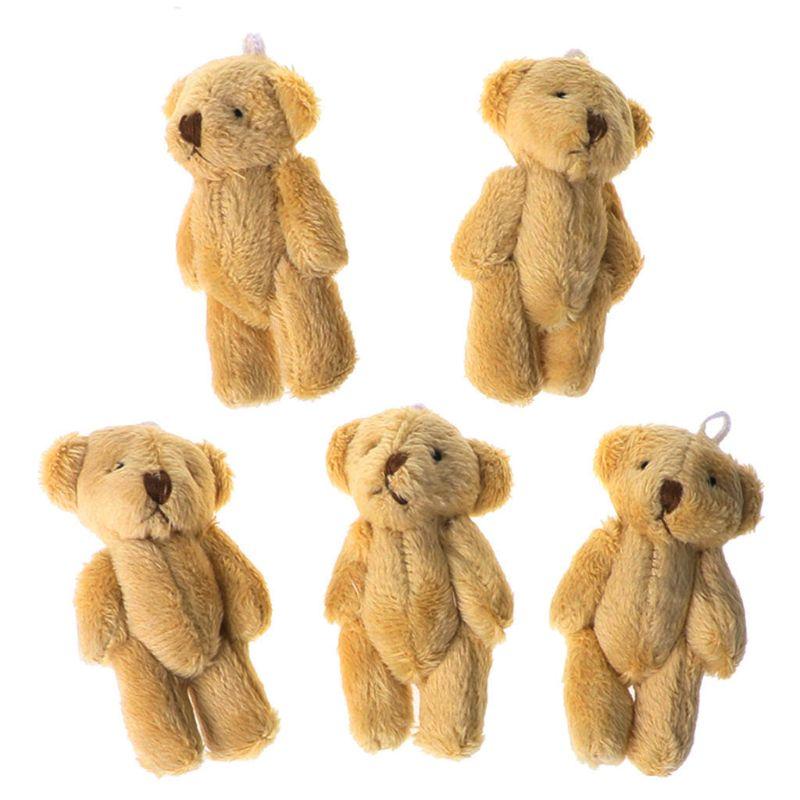 5PCS Kawaii Small Bears Plush Soft Toys Pearl Velvet Dolls Gifts Mini Teddy Bear R9JD