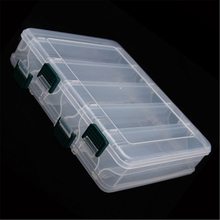 Double side 10 Compartment Fishing Bait Lure Hooks Box Bait Storage Case Fishing Tool Tackle Organizer Sorting Box for Pesca