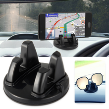 Car Accessories Interior Phone Holder Ornament 360 Rotation PC+Silicone Wear Res
