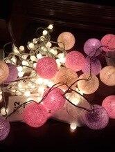 Led Lamp Cotton Ball String Christmas day Wedding Light Decorative Bedroom Wine Bottle  Flashing Indoor