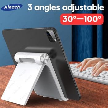 Desktops Holder For Tablet 7.9 to 11 inch , Adjustable Folding Bracket Tablet Stand For iPad Xiaomi Samsung Mobile Phone Support 1