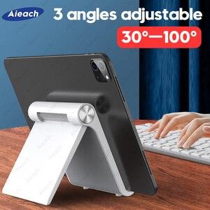 Настольный держатель для планшета 7,9-11 дюймов, Регулируемый складной кронштейн Подставка для планшета для iPad Xiaomi Samsung мобильный телефон с по...