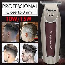 Profesyonel hassas saç kesme elektrikli saç düzeltici yakın 0mm kesme Baldhead tıraş makinesi ev berber aracı