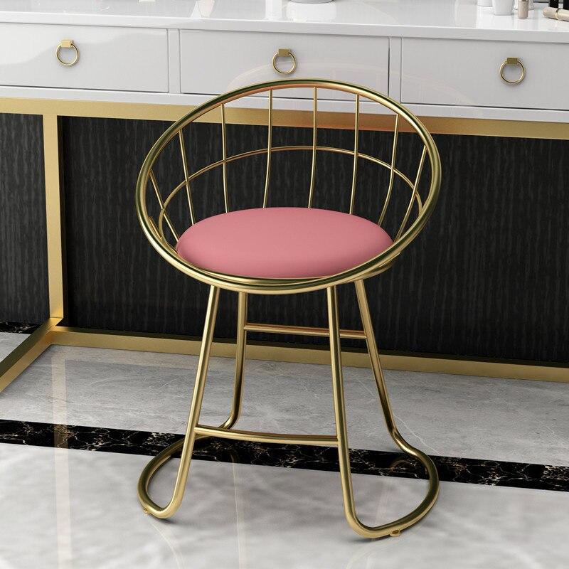 Modern Minimalist Makeup Stool Dressing Stool Dressing Table Dressing Table Stool Ins Net Red Bedroom Soft Bag Backrest Chair