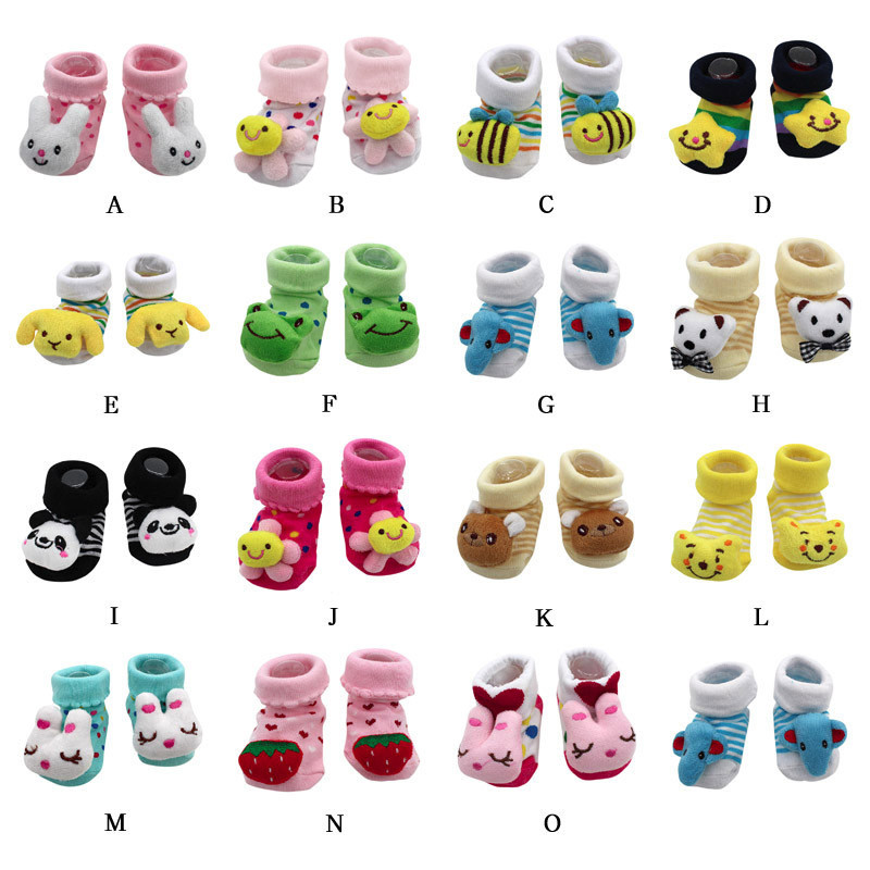 Newborn Baby Boy Girls Socks Infant Toddler Anti Slip Socks Baby Winter Thick Warm Cartoon Boot Socks Baby Shoes Socks 0-12month