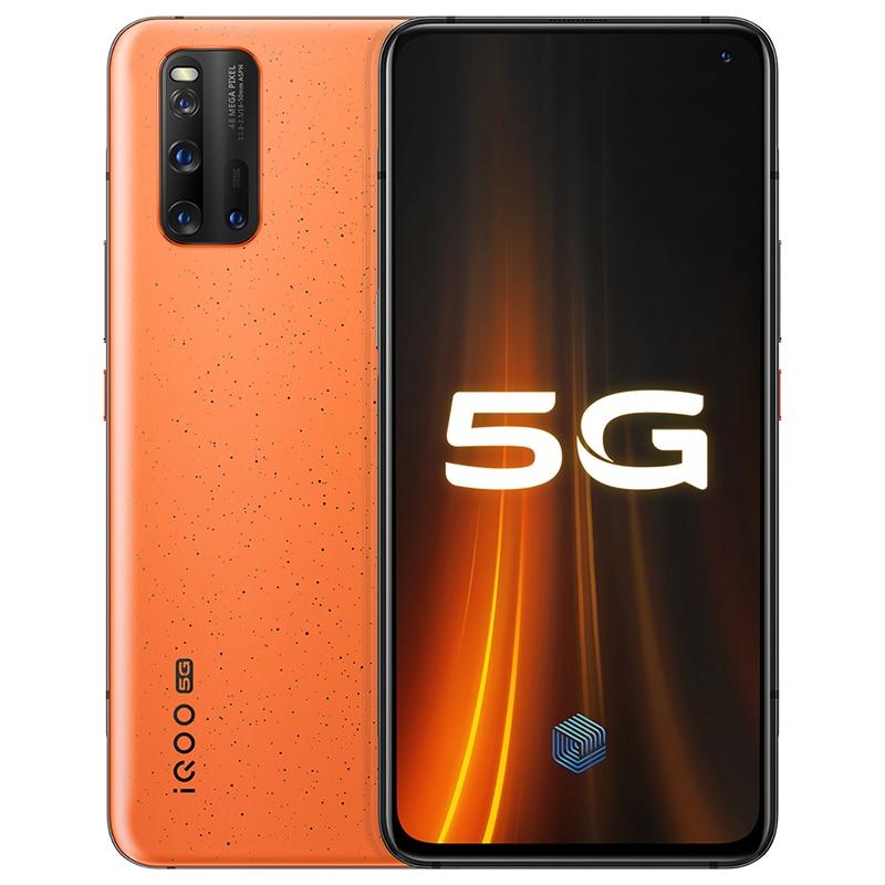 Original Vivo IQOO 3 Dual-Mode 5G Mobile Phone 12GB 128GB 4440mAh Big Battery 55W Flash Charge Snapdragon 865 6.44'' Smartphone