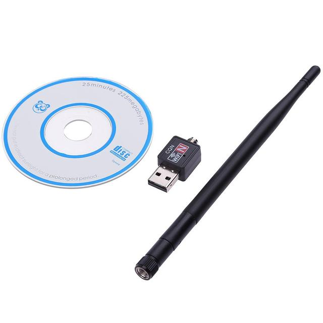 Wifi adapter 600M USB 2.0 Wifi Router Wireless Adapter Network LAN Card with 5 dBI Antenna for Laptop Computer internat TV 5