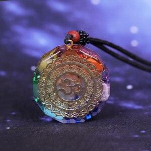 Image 3 - Orgonite Pendant Om Symbol Necklace Chakra Healing Energy Necklace Meditation Jewelry Handmade Professional Dropshipping