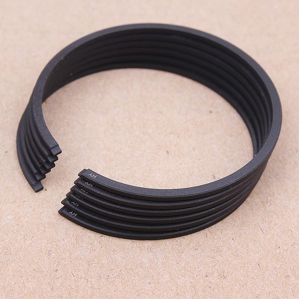 6pcs Piston Ring Kit 41mm*1.5mm For Partner 350 351 370 390 Poulan 40cc 42cc Husqvarna 350 Chainsaw Koblen Cylinder Parts