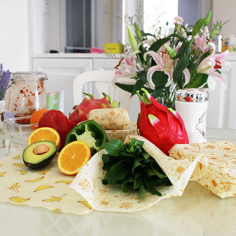 Riutilizzabile cera d'api fresco-keeping imballaggio sigillato imballaggi alimentari pellicola sottovuoto conservazione degli alimenti cera d'api panno fresco utensili da cucina