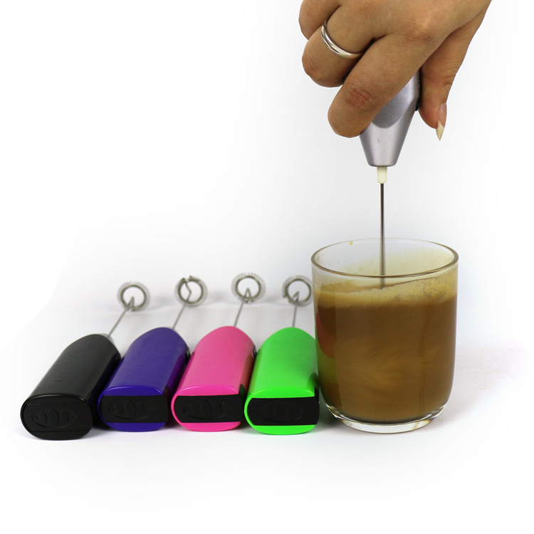 Mini Electric Hand-held Egg Beater Coffee Stirrer Kitchen Gadget Bubble Milk 5# Batteries Hand Mixer