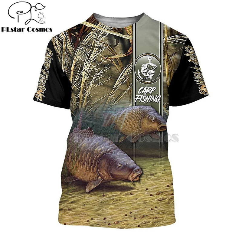 2020 New Fashion Men <font><b>hoodies</b></font> <font><b>3D</b></font> Print t shirt New carp Fashion <font><b>Animal</b></font> Fishing Art t shirt tees shorts sleeve Apparel <font><b>Unisex</b></font> -4 image