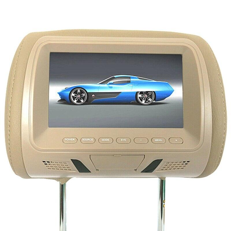 7 дюймов Автомобильный Mp5 плеер подголовник монитор Поддержка Av/Usb/Sd вход/Fm/динамик автомобильный Dvd дисплей