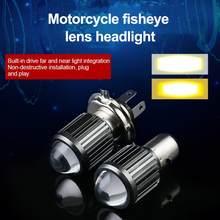 Ampoules de phare de Moto H4, H4, H6, BA20D, blanc, jaune, lampe Hi Lo, accessoires de Scooter, 9-80V, 10000lm