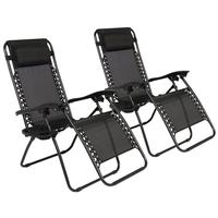 2pcs Folding Chair Tray Holder Lounger Camping Events Beach Plastics Outdoor Patio Reclining Drinks Phone Holder Recliner Chair