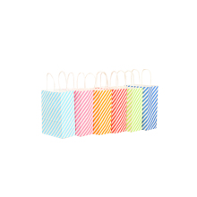 50 Pcs/lot Stripe Paper Bag Candy Color Diagonal stripes Decoration New Year Favors Gifts For Guests Kids Bags Party Supplies