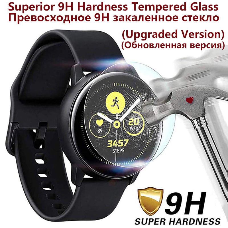 (3/1 Pcs) Tempered Glass Screen Protector 2.5D Arc Edges 9H Hardness HD For Samsung Galaxy Watch Active 2 44mm 40mm Upgraded