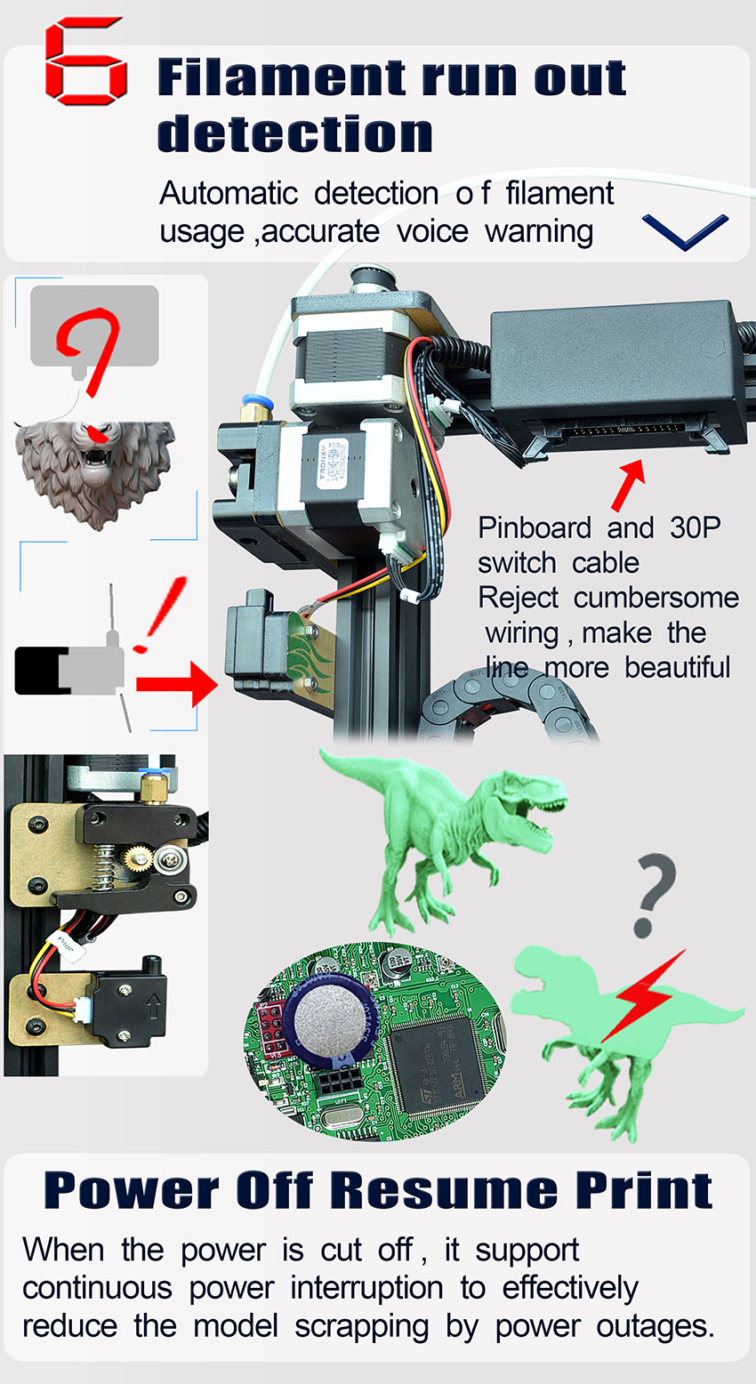 TRONXY X5SA 3D Printer Kit With Auto Levelling And Filament Sensor (X5SA) 9