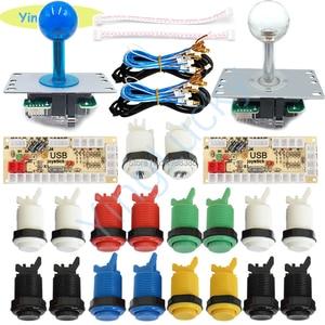 Image 3 - 2 ผู้เล่น Arcade ชุด DIY Zero Delay USB Encoder สไตล์อเมริกันจอยสติ๊ก 28 มม. PC Mame Raspberry pi 1 2 3