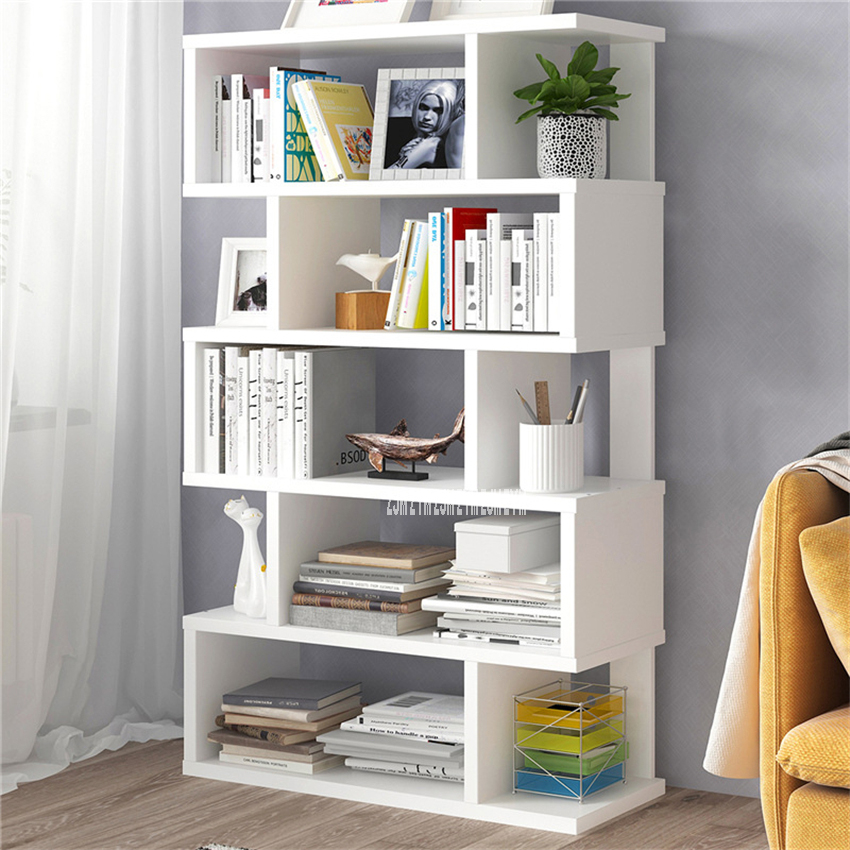 Living Room Space Saving Small Manmade Board Floor Bookshelf Bedroom Modern Simple Multifunctional Student Display Bookcase