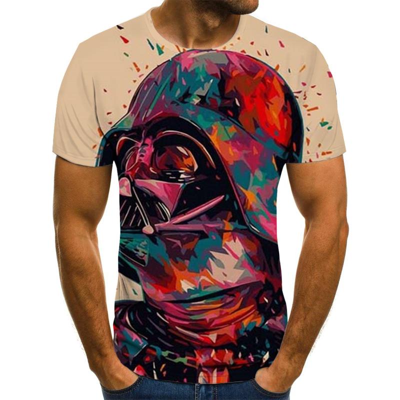 Летняя мужская одежда, цветная футболка с 3D принтом, модная футболка s, крутая цветная футболка s/street, мужская одежда 2020 Лучшая