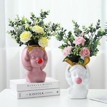 Creative Cute Potted Art Girl Portrait Flower Pot Garden Succulents Plant Desktop Vase Arrangement Container Decor