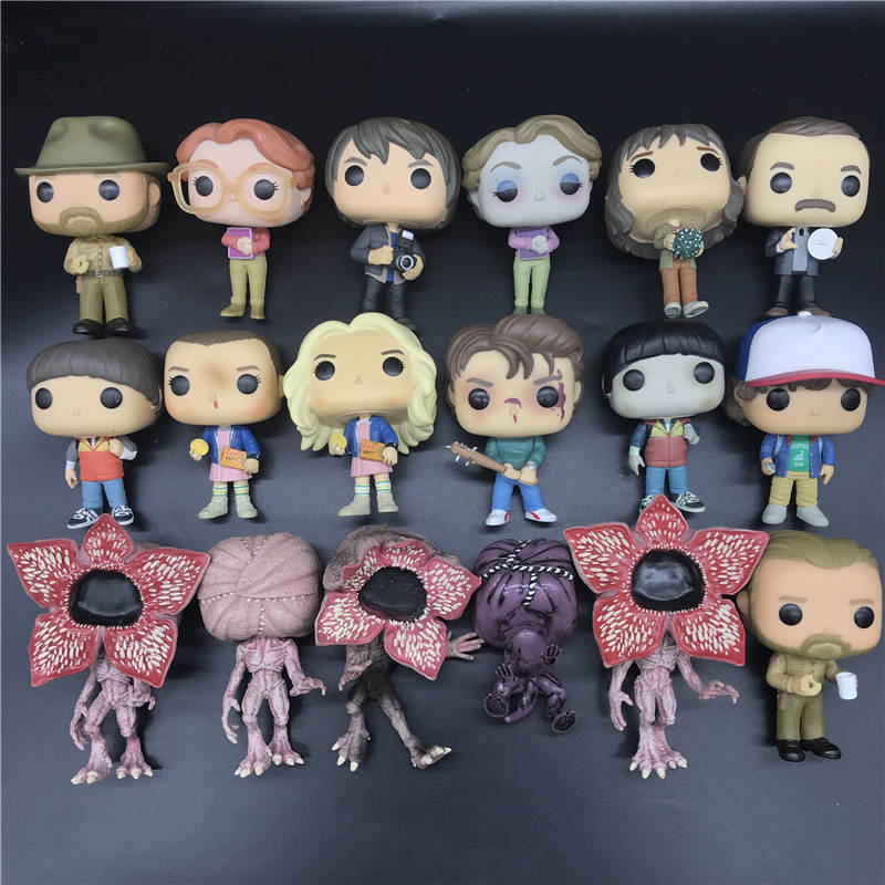 Stranger Things Dustin/Barb/Demogorgon/hopper/BARB/Ghostbuster Lucas Vinyl Action Figure Collection Model Toys