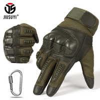 Dedo cheio luvas do exército tático militar paintball tiro airsoft bicicleta combate couro do plutônio da tela de toque borracha junta dura