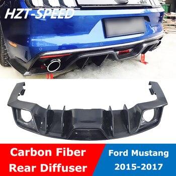 Mustang tipo AC para difusor de parachoques trasero alerón de labios para Ford Mustang 2015-2017