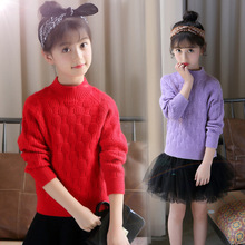 Brands Baby Girls Pullover Sweaters Winter 2019 New Girl Knitted Clothes Kids Autumn Solid Color Sweater for Girls Cardigan цена 2017