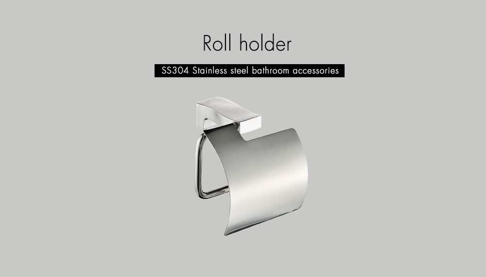 Hc3f59fbd17f34adda78351de07c52932U - Tutima Brushed Toilet Paper Holder Toilet Roll Holder Wall Mounted Bathroom Paper Holder Bathroom Accessories Paper Shelf