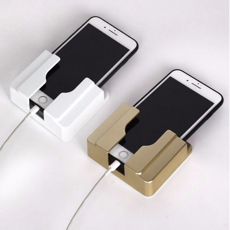 Paste Wall Mobile Phone Charging Stand Free of Disconnection Installation without Punching LHB99