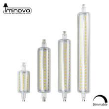R7s lâmpada led j78 j118 lâmpada de milho regulável 78mm 118mm 135mm 189mm substituir a luz do halogênio 25w 150w 500w ac 220v 110v lampada