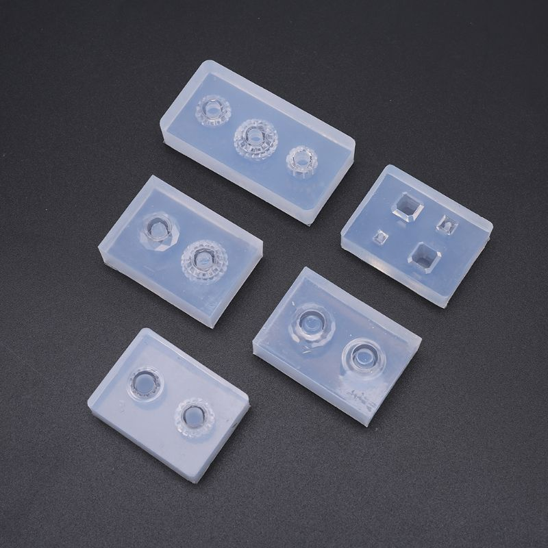 5 Pcs/set Crystal UV Resin Beads Cubes Epoxy Gel Mold With Holes DIY Handmade Pendant Jewelry Making Molds