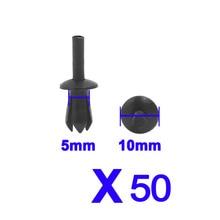 Für auto zubehör 50 Pcs 5mm Kunststoff Niet Motor Futter Trim Fastener Panel Retainer Clips für BM in hohe qualität